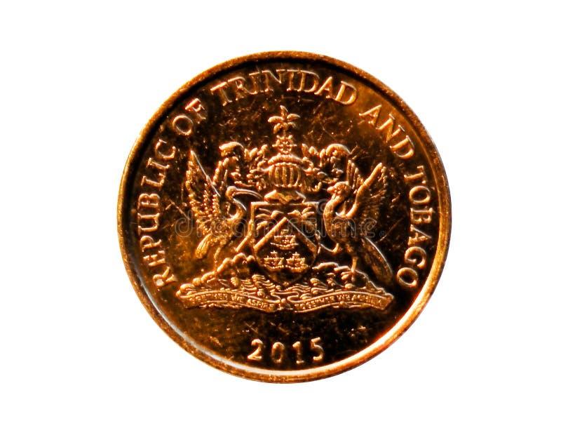 Moeda de 5 centavos Banco de Trindade e Tobago Inverta, 2015 imagem de stock