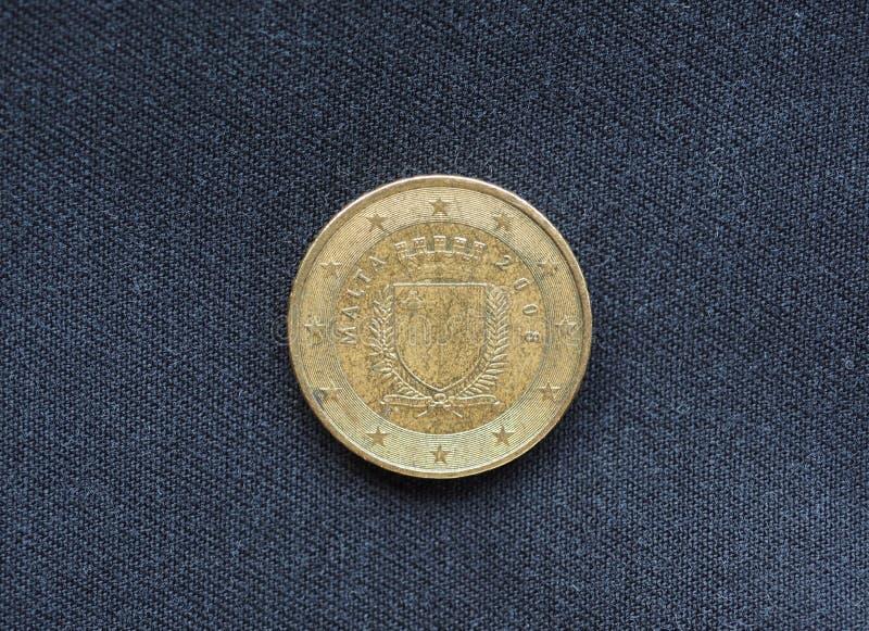 moeda de 50 centavos, Malta, Europa fotos de stock