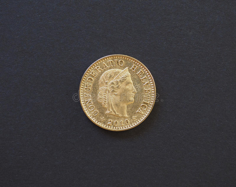 moeda de 5 centavos, Suíça imagens de stock royalty free