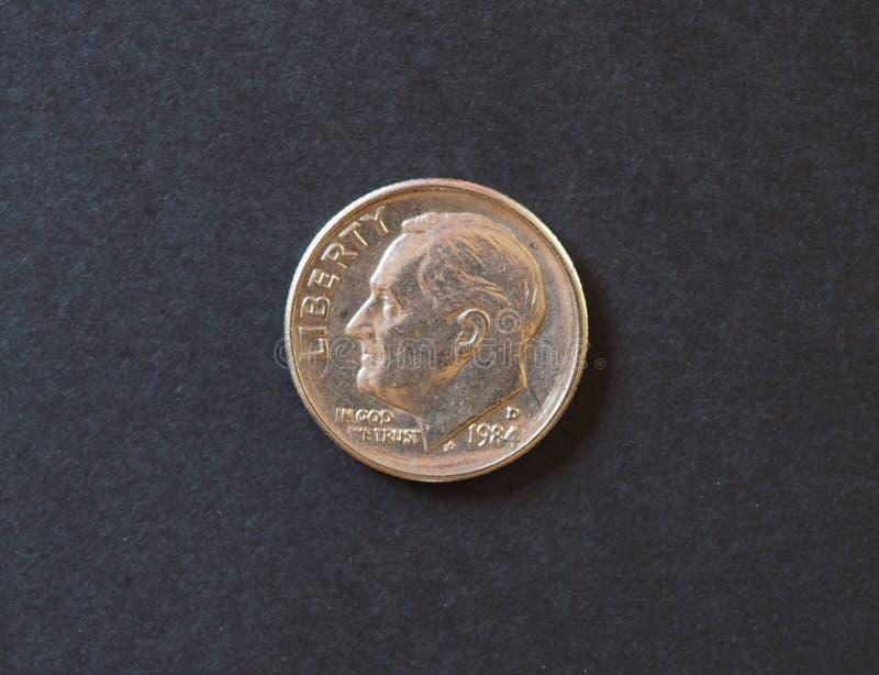moeda de 5 centavos, Suíça fotografia de stock
