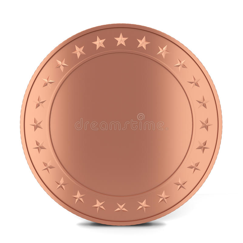 Moeda de cobre ilustração do vetor