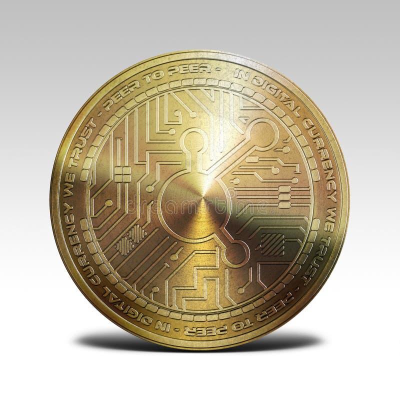 Moeda de cobre do bitconnect isolada na rendição branca do fundo 3d ilustração royalty free