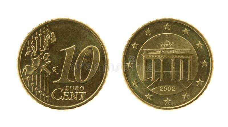 Moeda de dez Eurocents fotos de stock royalty free