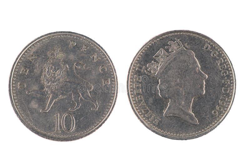 Moeda de dez moedas de um centavo imagens de stock royalty free