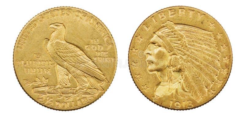 Moeda de Eagle do ouro imagem de stock royalty free