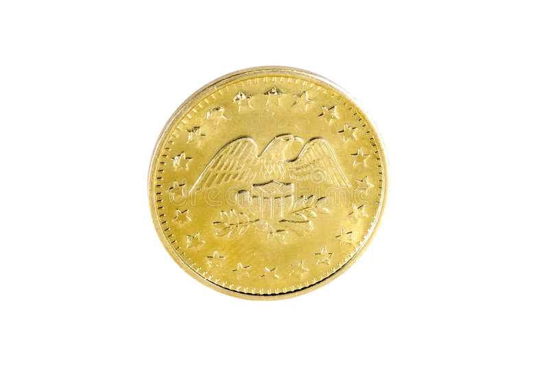 Moeda de ouro foto de stock royalty free
