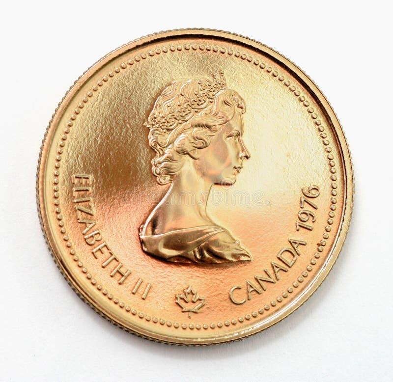 Moeda de ouro olímpico fotografia de stock royalty free