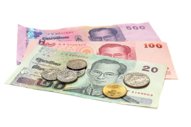 Moeda de Tailândia fotos de stock royalty free
