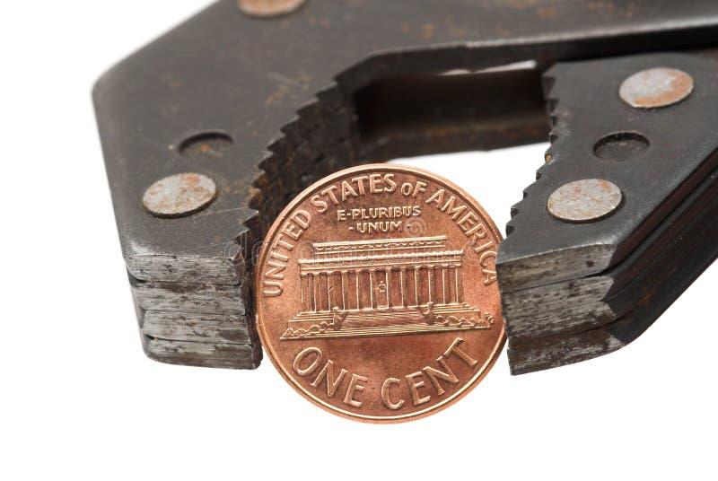 Moeda de um centavo Pincher 2 foto de stock