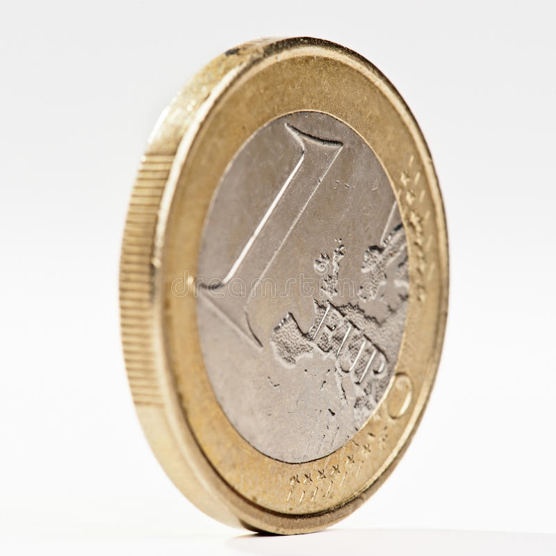 Download Moeda de um euro foto de stock. Imagem de crise, branco - 26509292