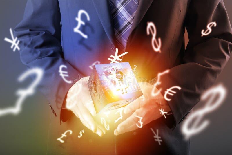 Moeda digital do sinal de Bitcoin, dinheiro digital futurista, conceito da tecnologia do blockchain ilustração royalty free