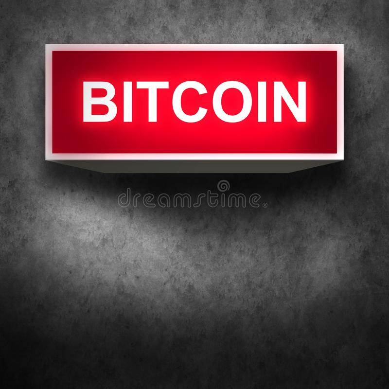 Moeda digital do sinal de Bitcoin, dinheiro digital futurista, conceito da tecnologia do blockchain ilustração do vetor