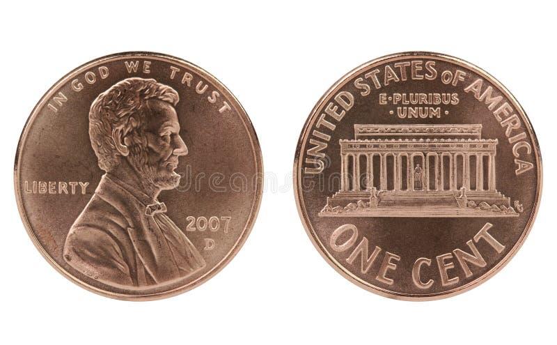 Moeda do centavo de Abraham Lincoln imagens de stock royalty free