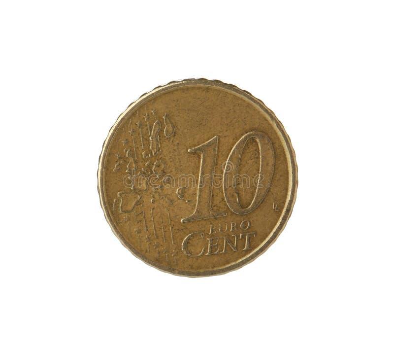 Moeda do centavo do euro dez imagem de stock royalty free
