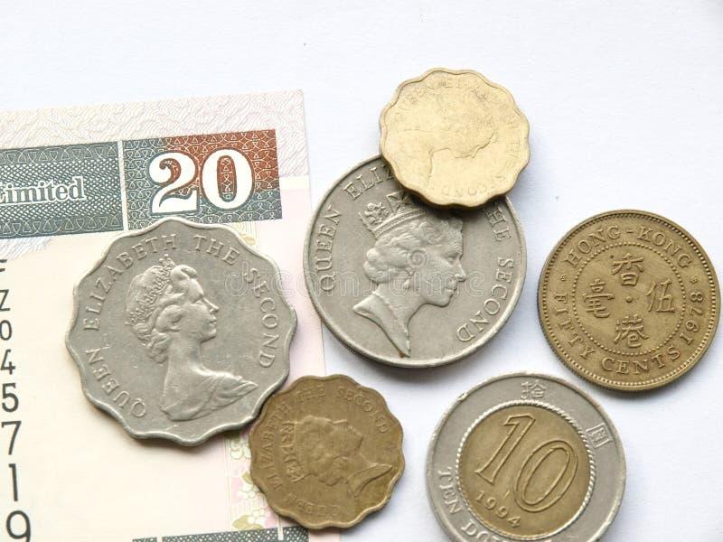 Moeda do dólar de Hong Kong foto de stock