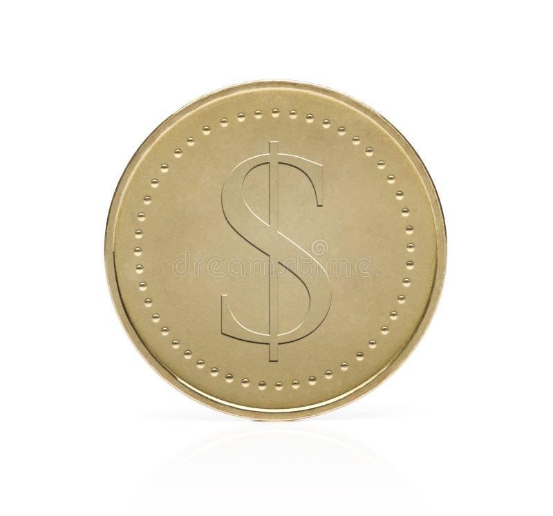 Moeda do dólar do ouro foto de stock