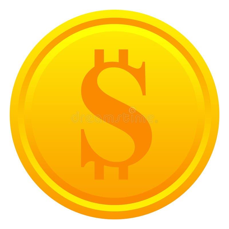 Moeda do dólar ilustração royalty free