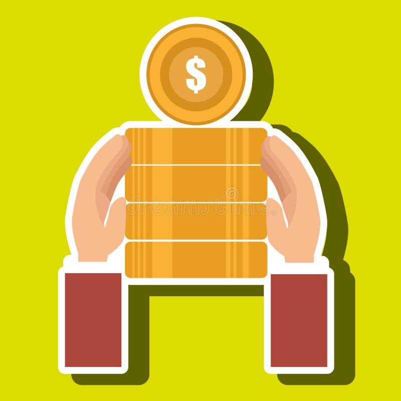 moeda do dinheiro da pilha da moeda ilustração stock