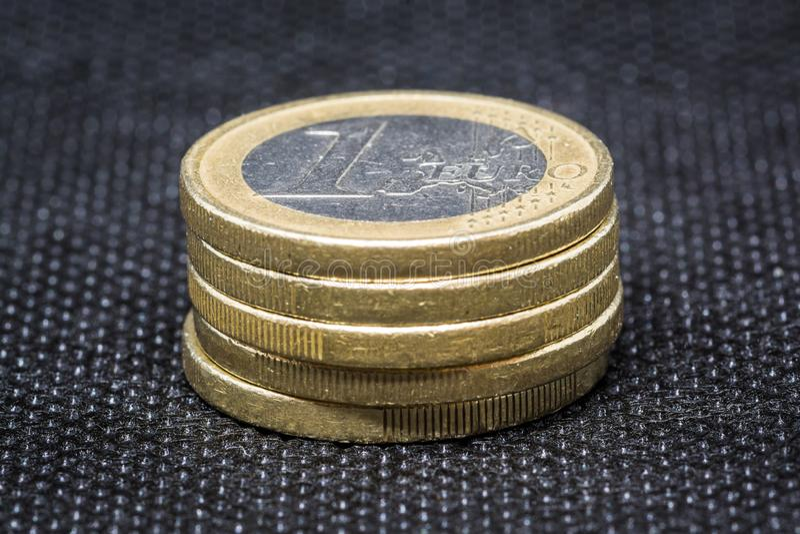 Moeda do Euro cinco fotos de stock royalty free