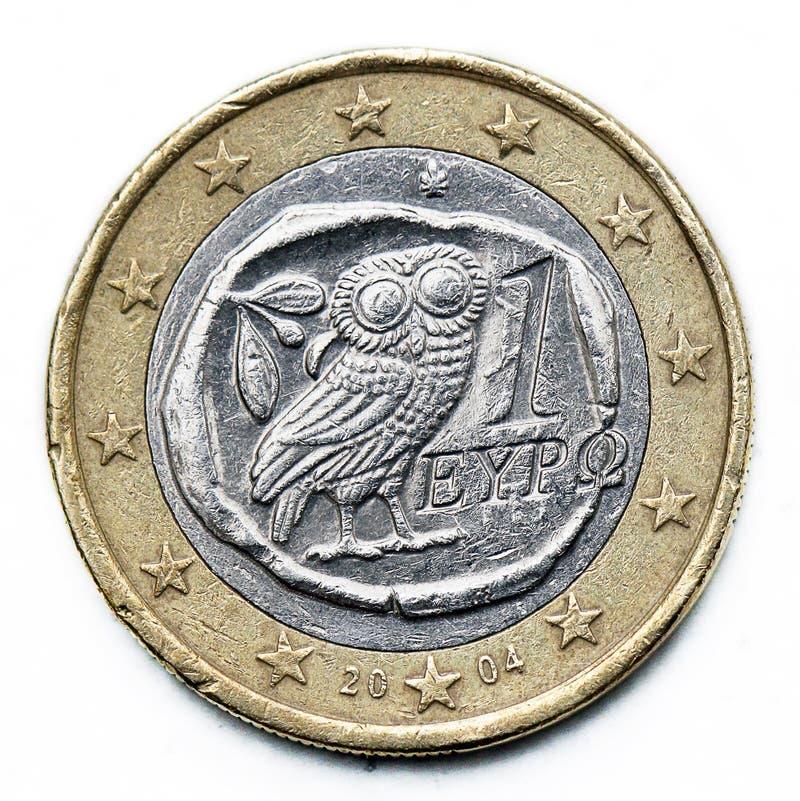 Moeda do euro de Grécia foto de stock