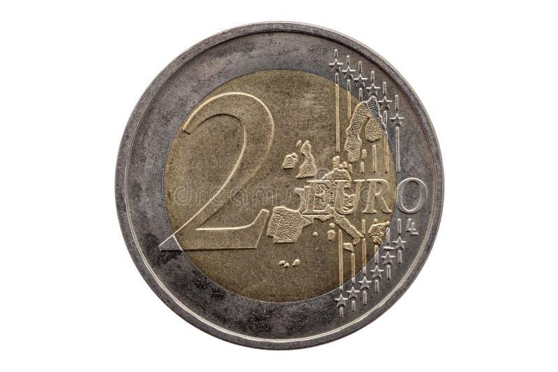 Moeda do euro dois imagem de stock royalty free