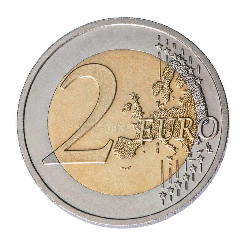 Moeda do euro dois fotografia de stock