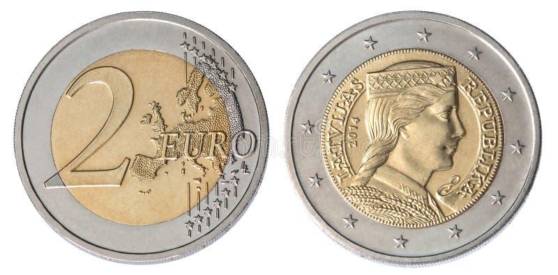 Moeda do euro dois fotos de stock