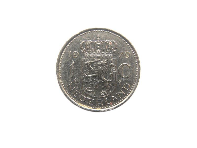 1 moeda do Gulden imagem de stock