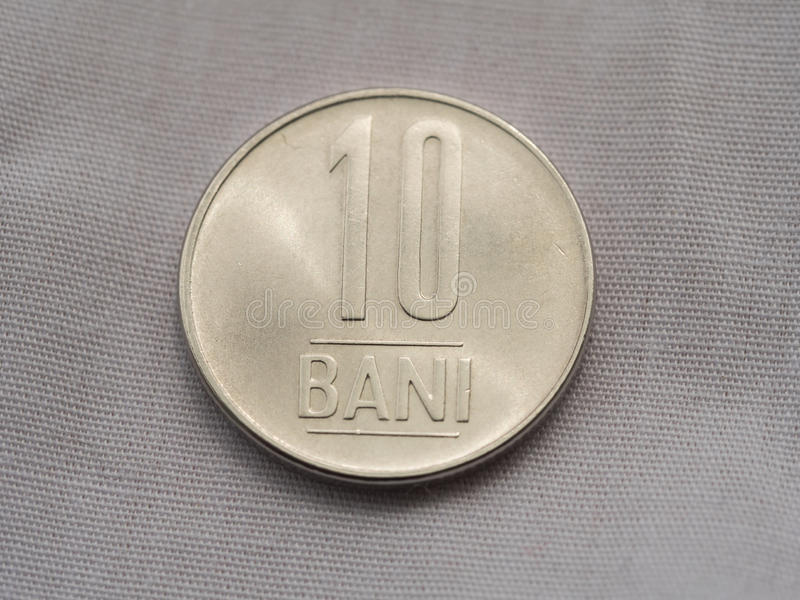 moeda do romanian do bani 10 imagem de stock