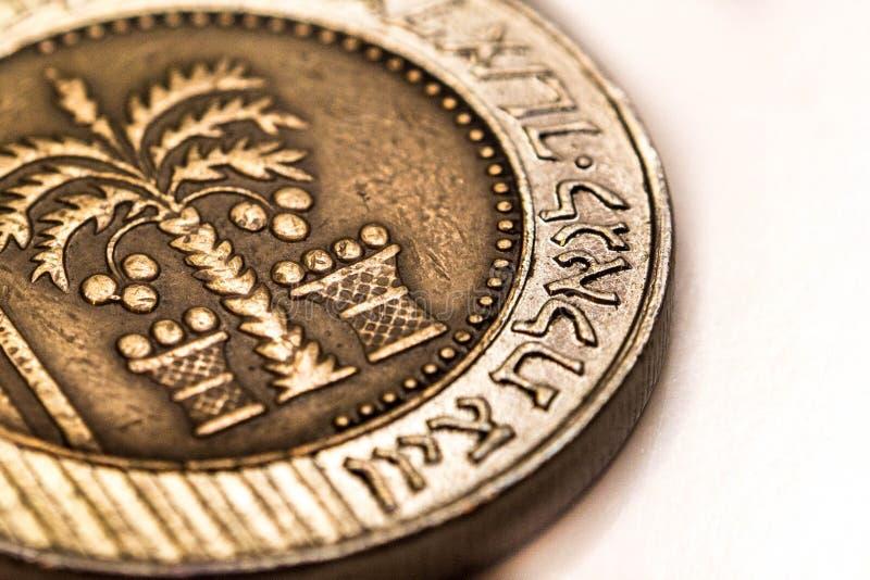 Moeda do shekel dez imagem de stock