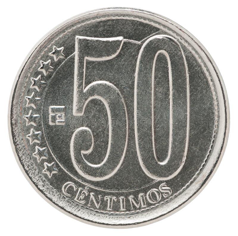 Moeda dos centimos da Venezuela foto de stock