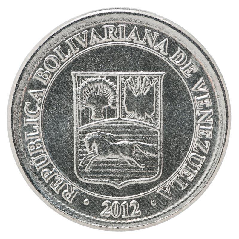Moeda dos centimos da Venezuela foto de stock royalty free