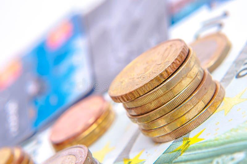 Moeda européia imagem de stock royalty free
