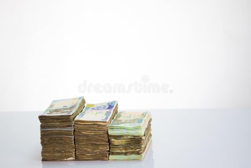 Moeda local N1000 de Nigéria, N500, notas do naira N200 em um pacote fotos de stock royalty free