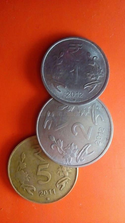Moeda nacional indiana imagem de stock royalty free