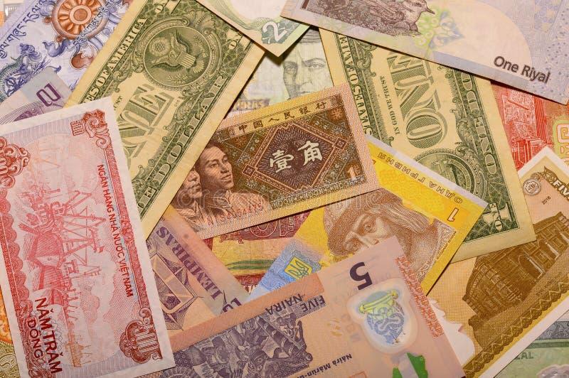 A moeda nota o fundo fotografia de stock royalty free