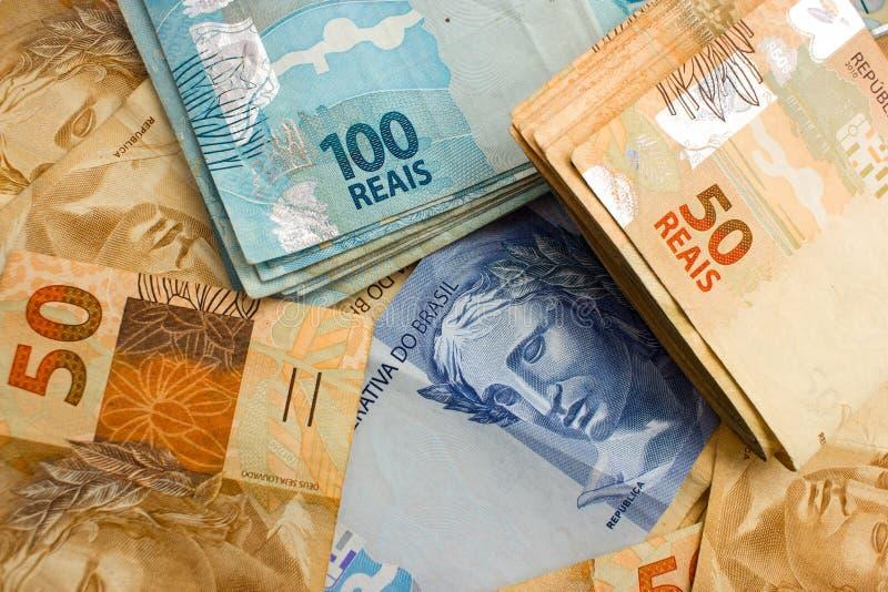 Moeda oficial de Brasil foto de stock royalty free