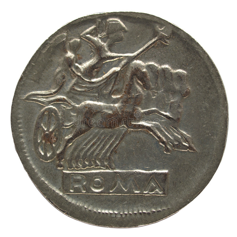 Moeda romana imagem de stock royalty free