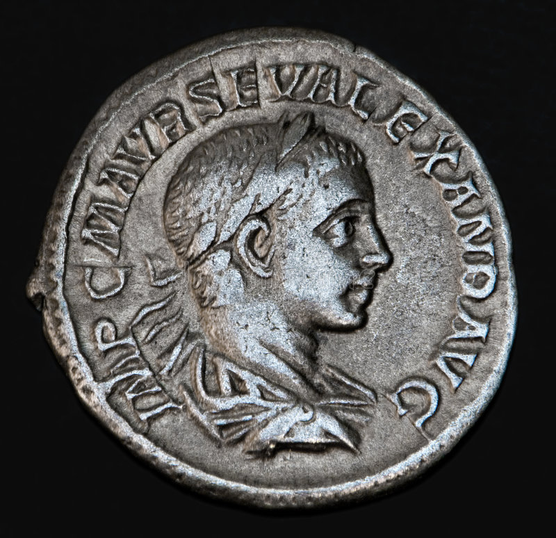 Moeda romana antiga Geta imagem de stock