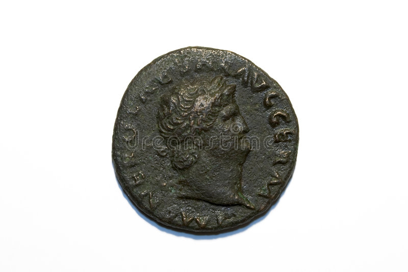 Moeda romana de Nero fotos de stock