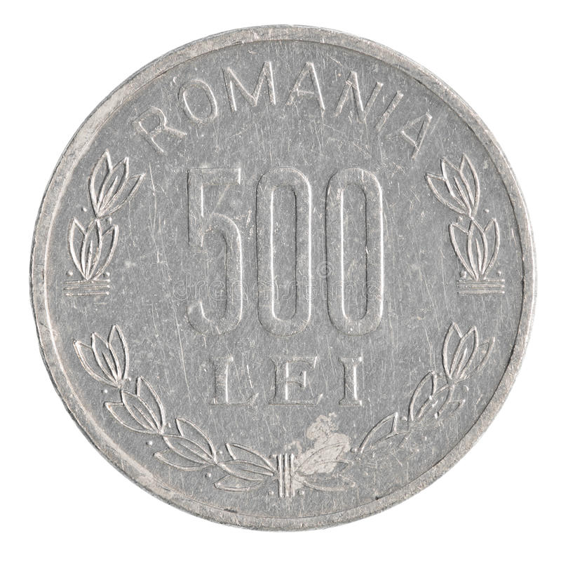 Moeda romena de 500 leus fotografia de stock royalty free