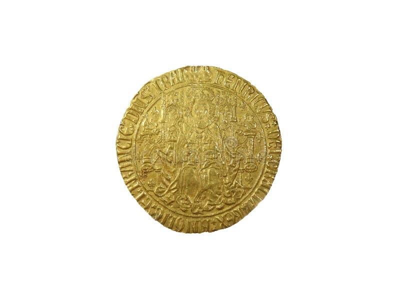 Moeda soberana do ouro do rei Henry VII foto de stock