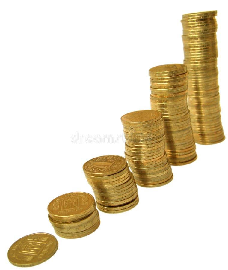 Moedas 2 foto de stock royalty free