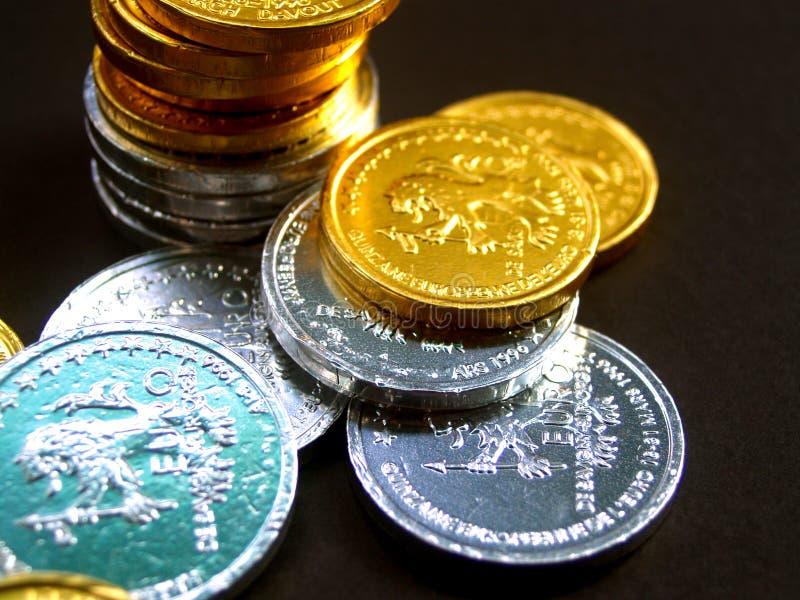 Moedas 2 do euro imagem de stock royalty free