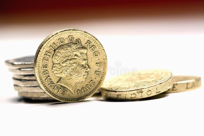 Moedas britânicas imagem de stock royalty free