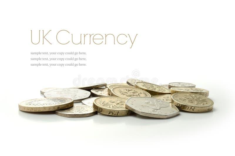 Moedas BRITÂNICAS da moeda imagem de stock royalty free