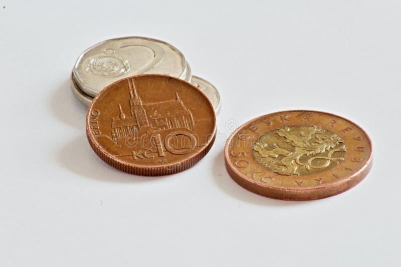 Moedas checas, coroas imagem de stock royalty free
