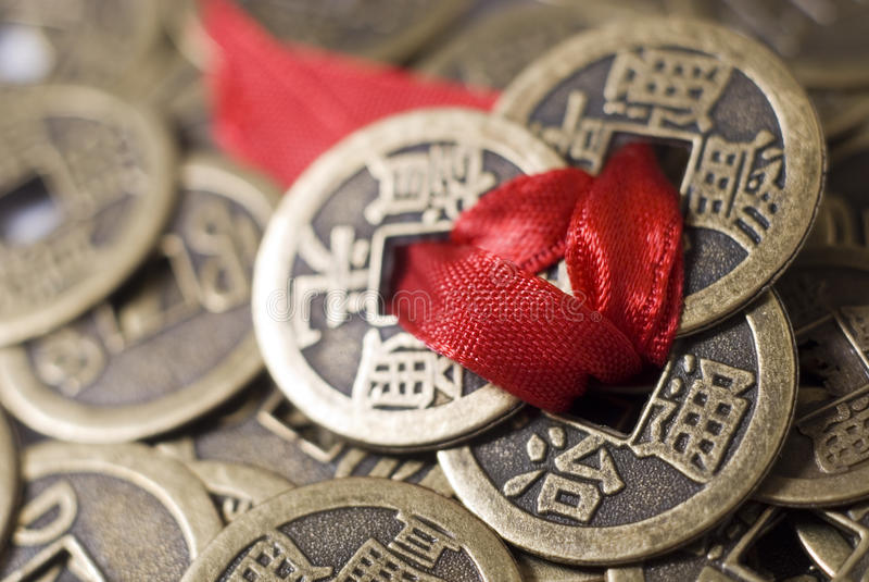 Moedas chinesas foto de stock royalty free