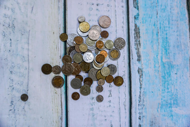 Moedas da divisa estrageira foto de stock