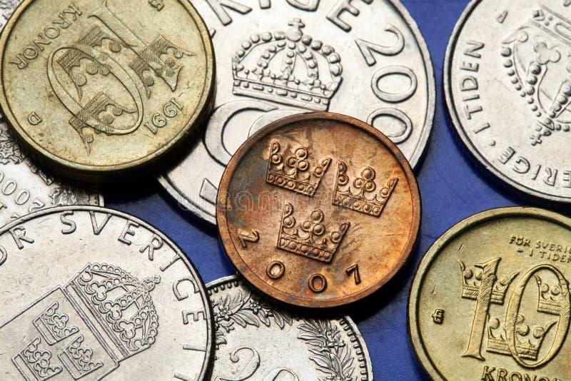 Moedas da Suécia imagens de stock royalty free